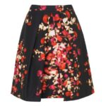 L.K.Bennett - Leticia Red Print Silk Cotton Us 14 I Eu 46 Skirt