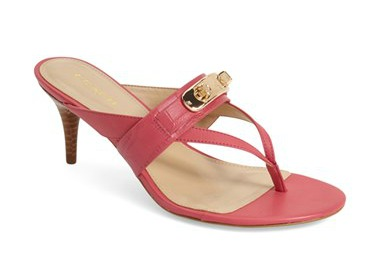 pink kitten heel sandal - coach | Fabulous After 40