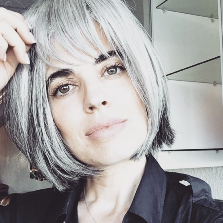 How to go Gray gracefully - woman with Short gray bob