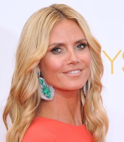 Heidi Klum - best earrings for your face shape