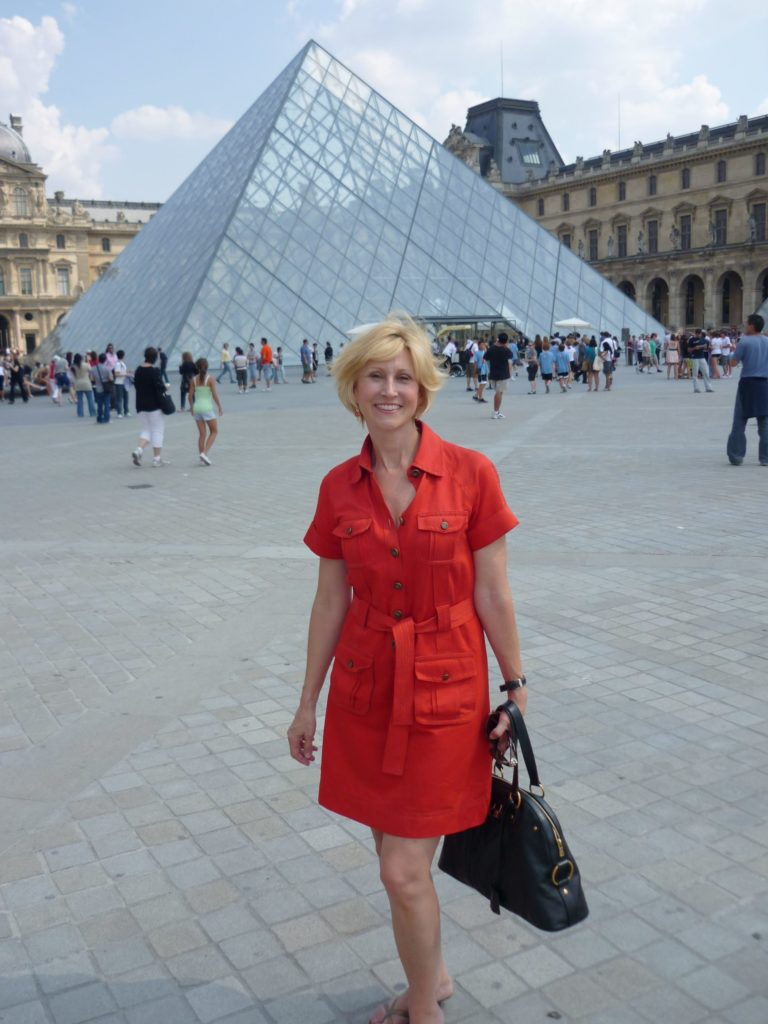 Deb At The Louvre