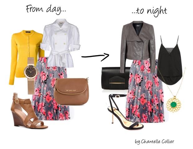 floral midi skirt over 40 - pink and gray midi skirt