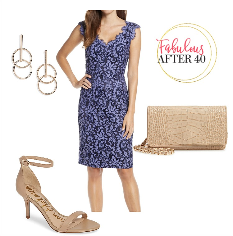 Blue lace dresses to wear to a wedding