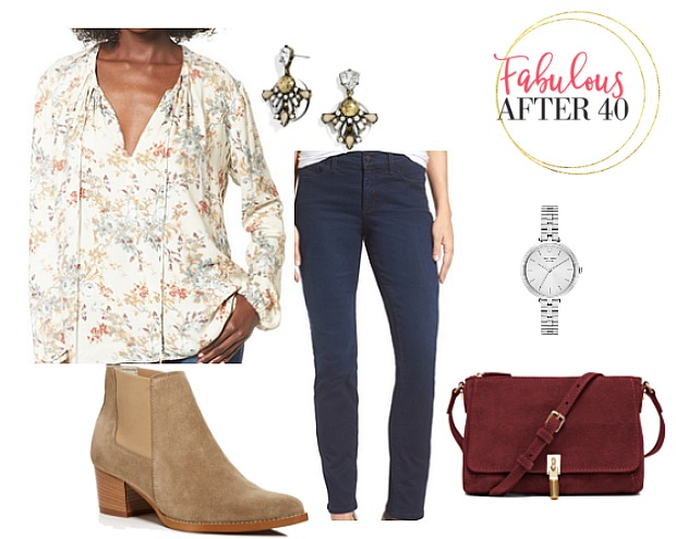Fall Floral Tie Top - What to wear on a dinner date