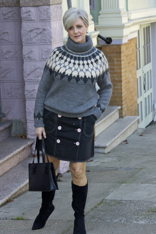 Style At a Certain Age-Fair-Isle-Sweater - Recipe For Style