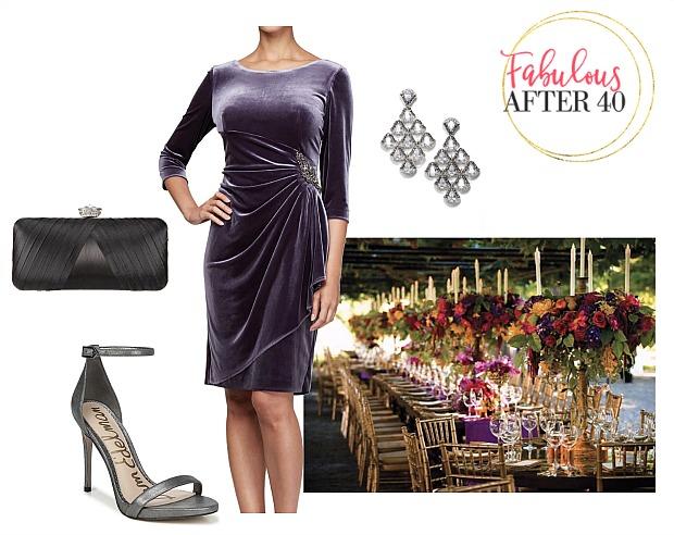 Vineyard wedding attire for guests - Purple Velvet