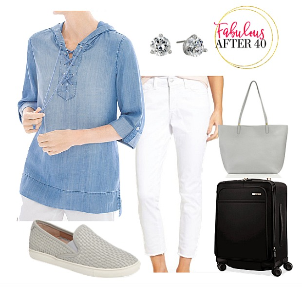 What to wear on a plane ride - tops with long sleeves or 3/4 length sleeves
