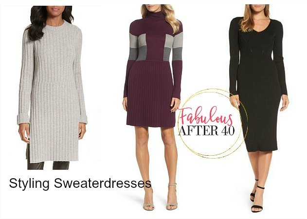 5 Ways To Wear A Sweater Dress Fabulous After 40