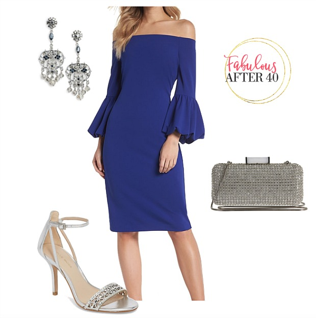 What to wear to a fall wedding - Blue