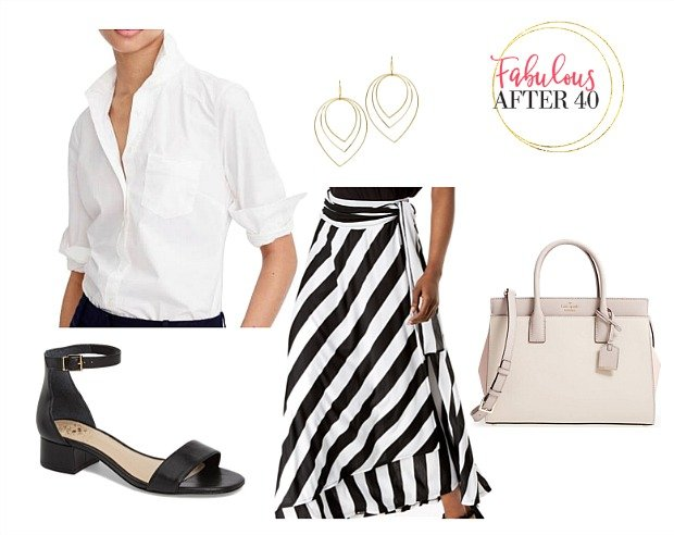 Black and white striped maxi skirt - How to wear a striped maxi skirt