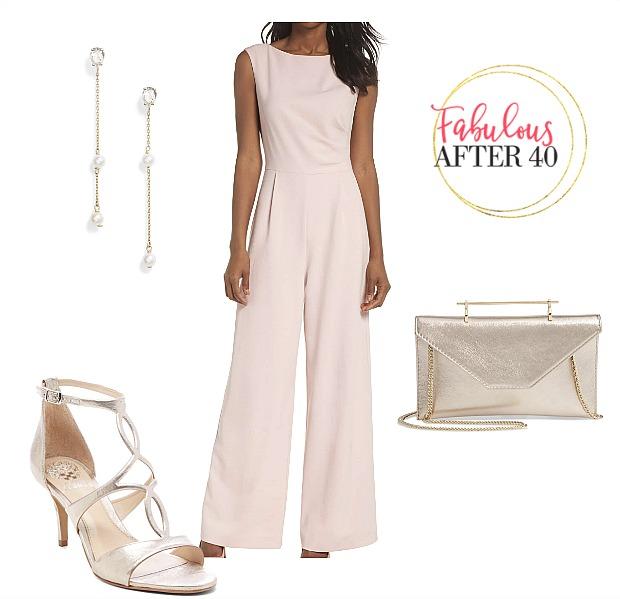 dressy pink jumpsuit for wedding shower