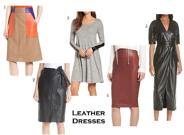Fall Trends - Leather Dresses