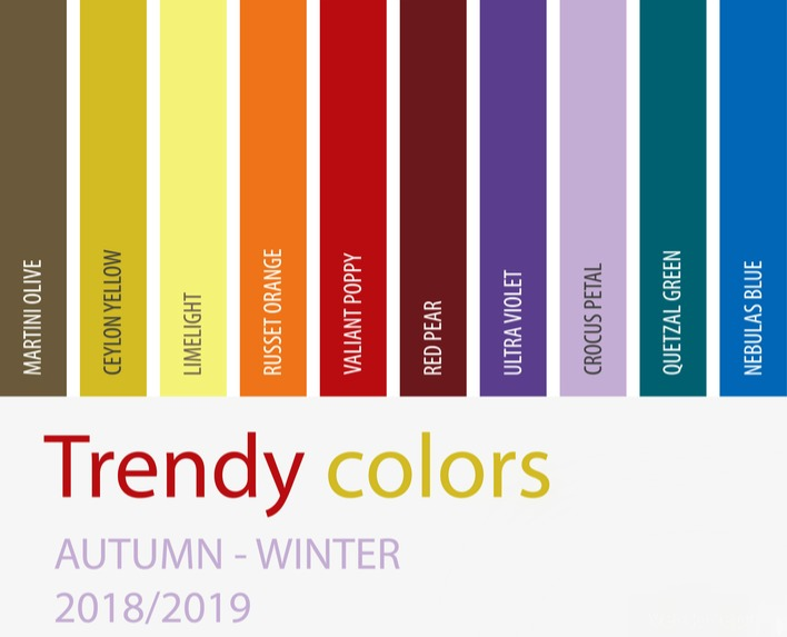 2018 Top 10 Trendy Fall Fashion Colors