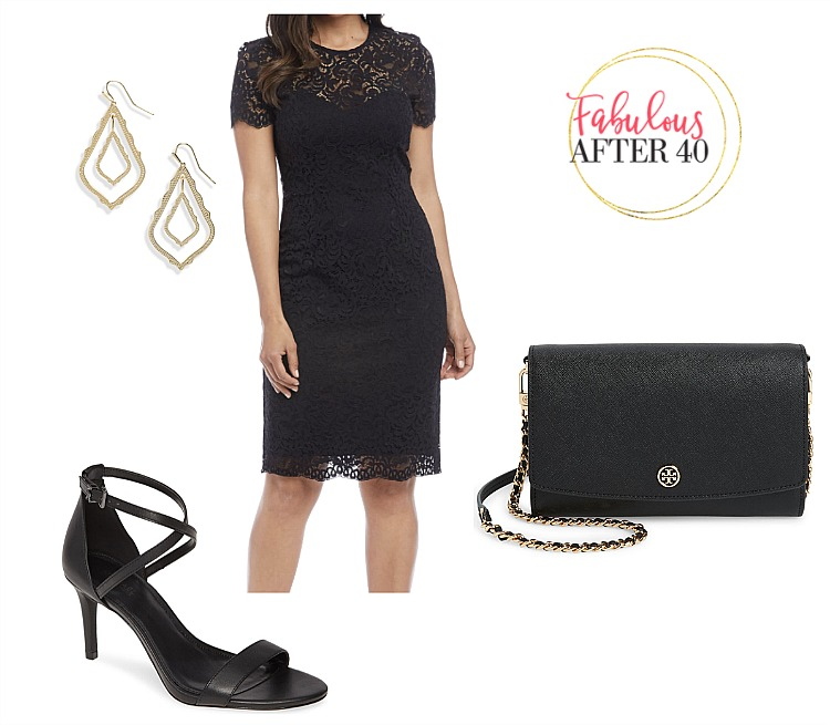 Holiday Work Party - Black Lace Dress