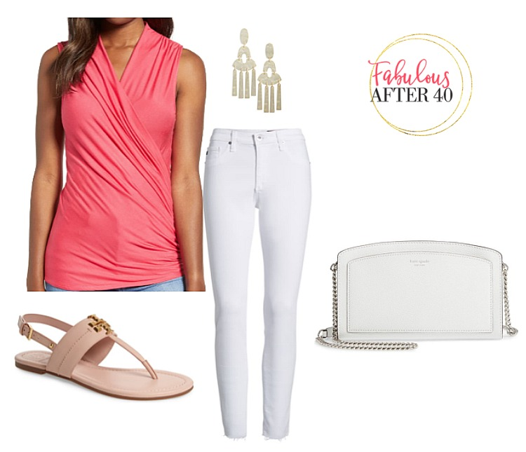 What to wear in Las Vegas - Coral Wrap Top