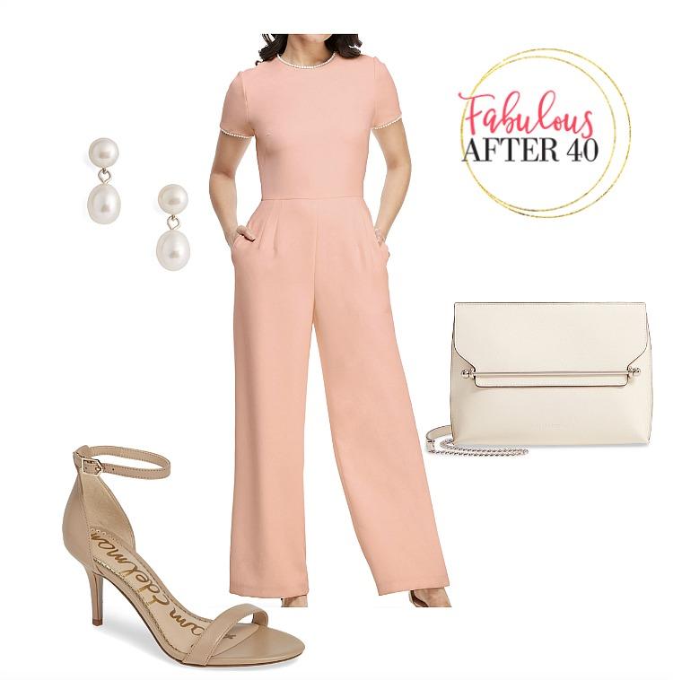 Wedding Guest - Pink Jumpsuit