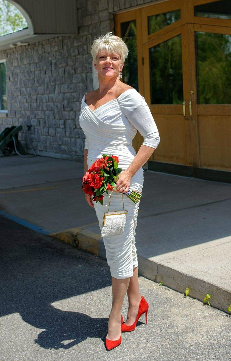Second wedding dresses for older bride