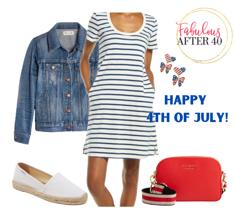 4th of July clothing- Striped Dress