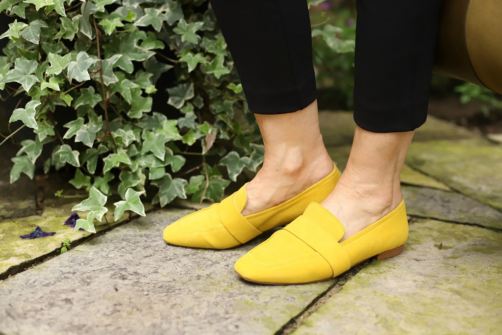 mustard loafers