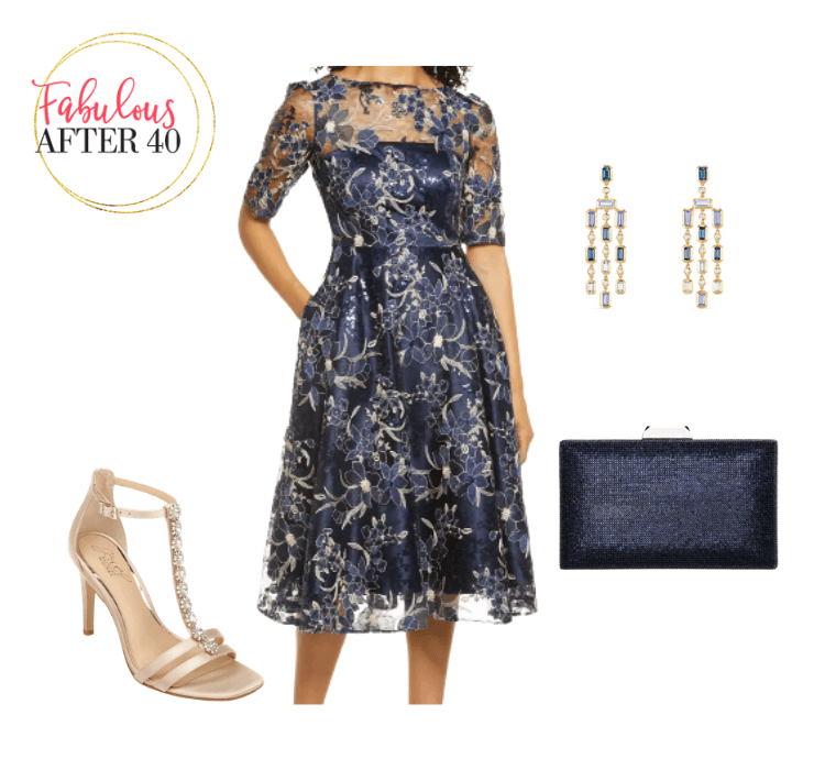 Wedding guest dress - Navy Lace