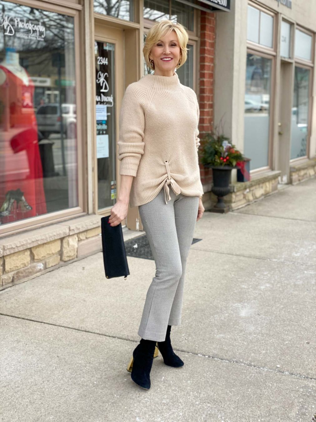 boots with cropped flare pants